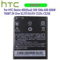original battery 1800mah bm60100 for htc desire 400dual 500 506e 600 606w t608t z4 one scstsusv c525c c525e batteries
