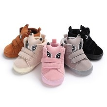 New Baby Shoes Kid Boy Girl Suede Lace Cotton Cloth First Walker Anti-slip Soft Sole Toddler Sneaker