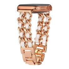 Bling Band for Apple Watch Band 44mm 40mm Sparkle Jewelry Replacement Metal Wristband Strap Women Gi