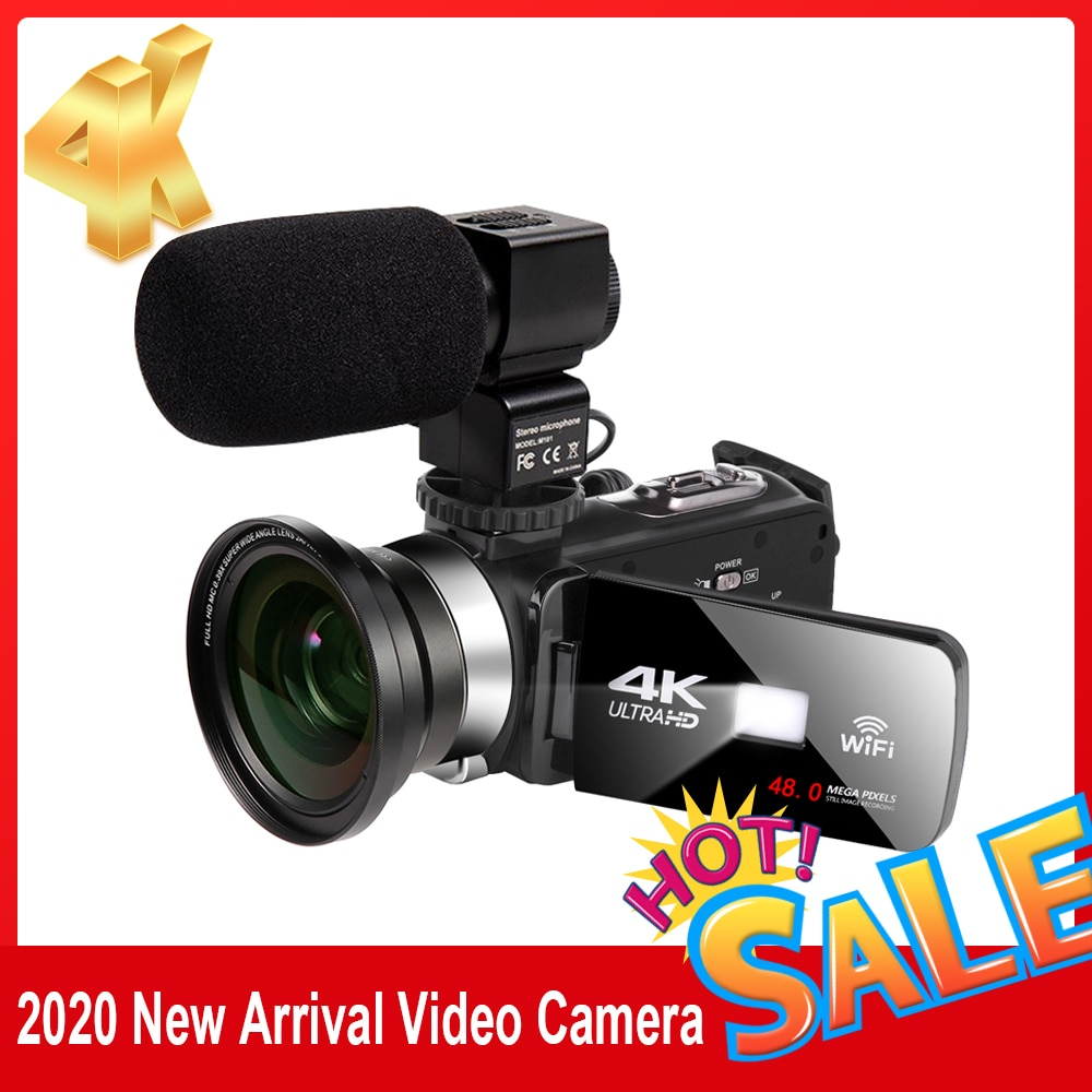 Фото - Видеокамера Youbute 4K, видеокамера 48 МП для видеозаписи, Handycam, Wi-Fi, ночная камера, замедленная съемка, сенсорный видеокамера с экраном видеокамера
