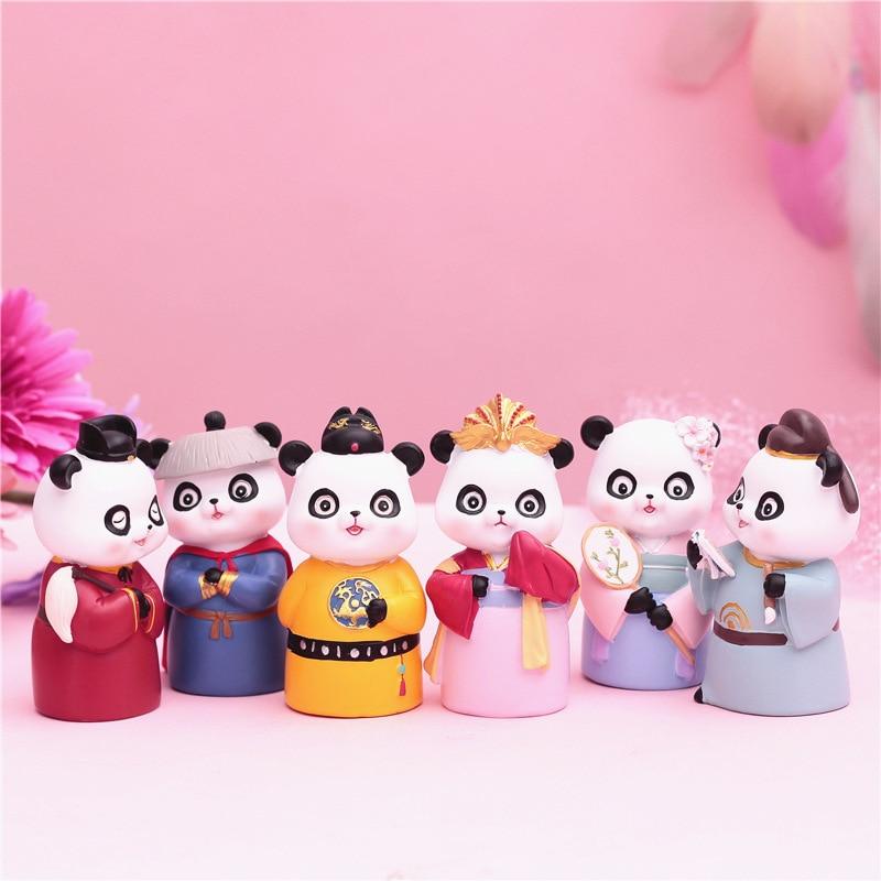 Креативный ретро-дворец в китайском стиле, мультяшная панда, семейный ветер, дворец на колесиках, сумка на удачу, случайный модный домашний ...