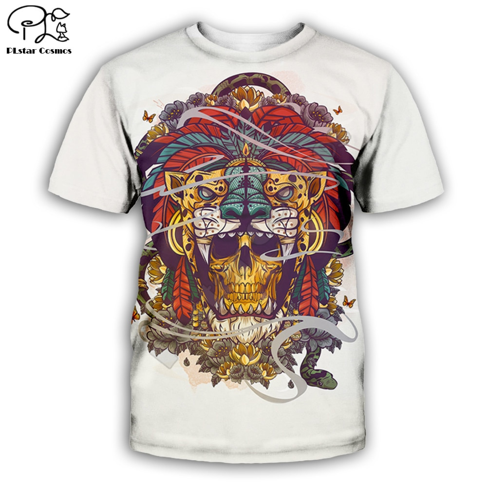Tiger skull 3D full printing fashion t shirt Unisex hip hop style tshirt streetwear women for men ca
