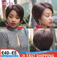 pixie cut human hair wig short straight front lace wig with human hair 150 density cheap wig for black women