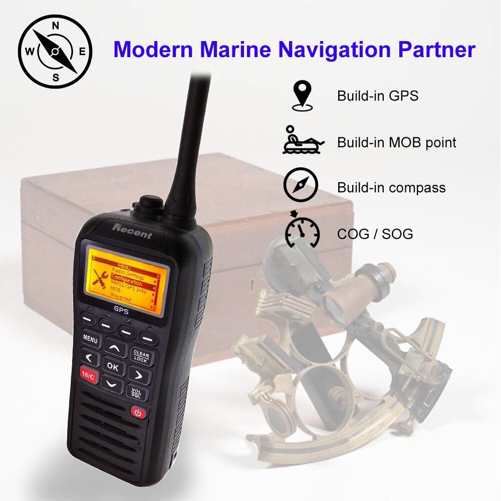 Recent RS-38M VHF Marine Radio Built-in GPS 156.025-163.275MHz Float Transceiver Tri-watch IP67 Waterproof Walkie Talkie enlarge