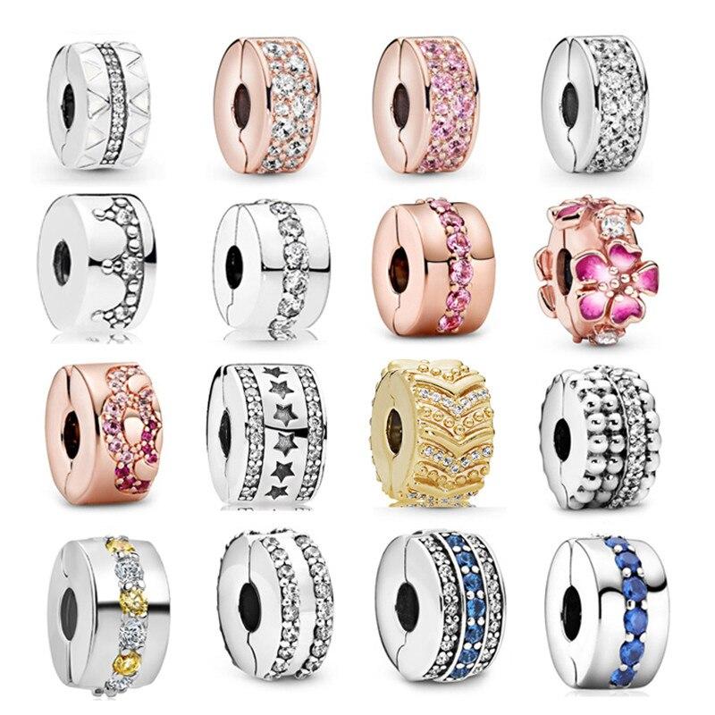Новые модные оригинальные бусины с отверстием, подходящие для женских браслетов pandora, ожерелий, ювелирных изделий, аксессуаров «сделай сам»