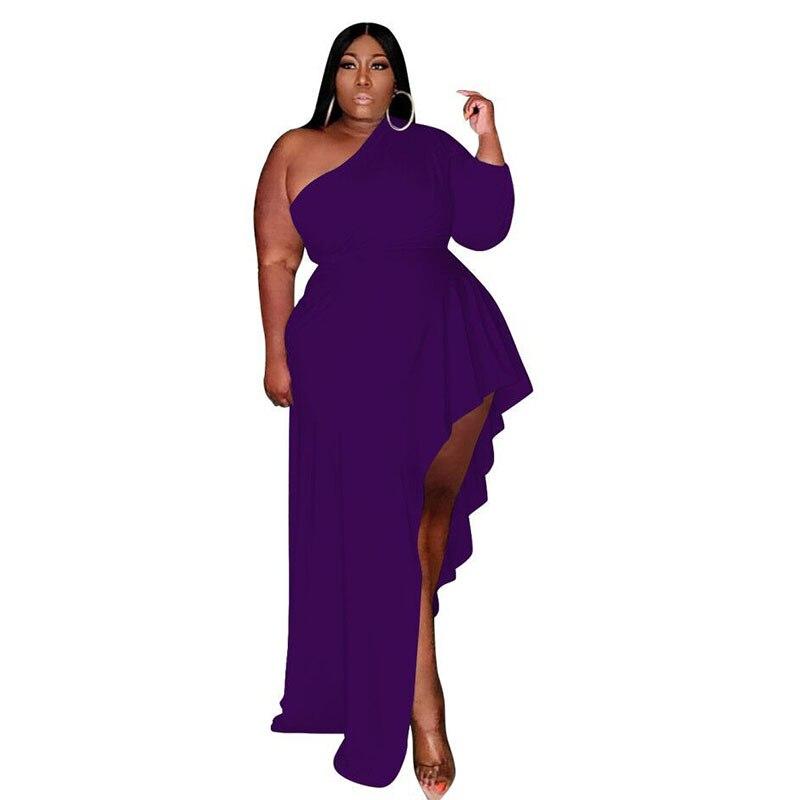Элегантное платье макси на одно плечо, женская сексуальная одежда с завышенной талией, Очаровательная Женская одежда, модная одежда, одежда...