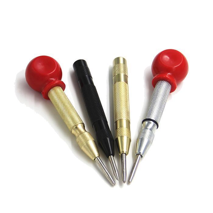 Punzone centrale automatico caricato a molla foro di marcatura corpo in acciaio al carbonio colore oro / colore argento opzionale