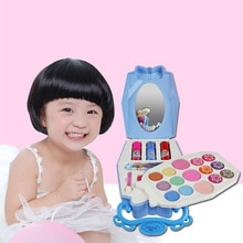 Water-Soluble Cosmetics Toy DIY Beauty Makeup Training Handbag Box Kid Child Intelligent Toy