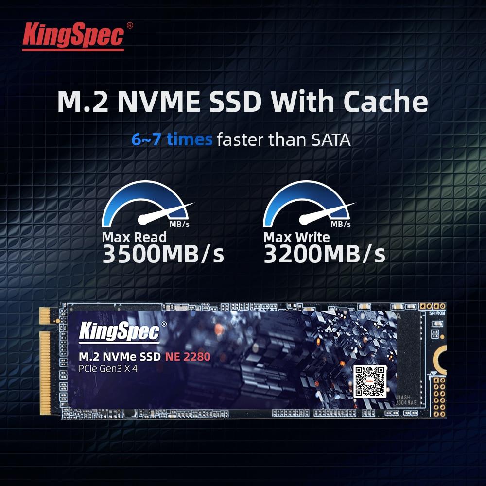 كينج سبيك 512 جيجا M.2 SSD مع درام M2 PCIe NVME 1 تيرا بايت 2 تيرا بايت محرك الحالة الصلبة 2280 قرص صلب داخلي للكمبيوتر المحمول مع ذاكرة التخزين المؤقت عالي...