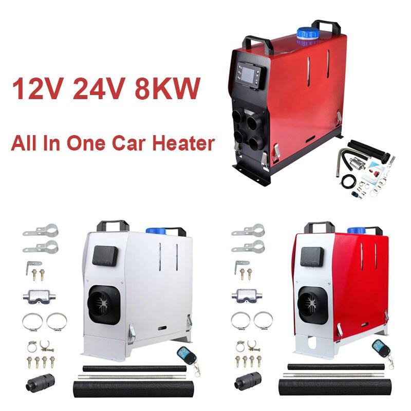 سخان السيارة النحاسي ، الكل في واحد ، 12 فولت ، 24 فولت ، 8 كيلو واط ، مع شاشة LCD ، جهاز تحكم عن بعد ، للسيارة ، عربة webasto ، عربة النقل