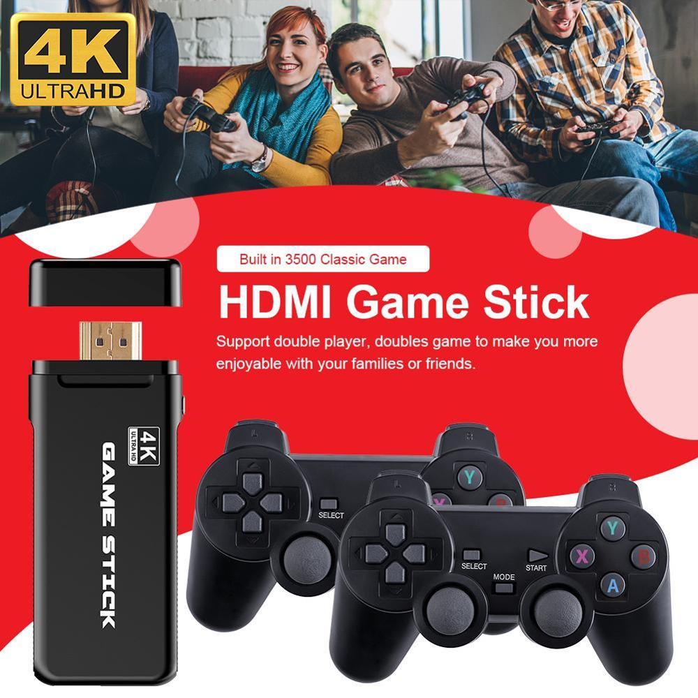 4K Games USB Wireless Console 3500 Classic Game Stick Video Game Console 8 Bit Mini Retro Controller HDMI-compatible Dual Player