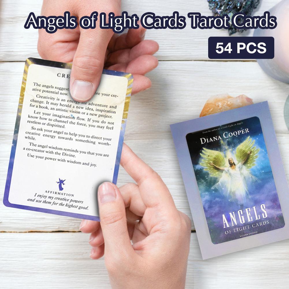 Las cartas del Tarot 50 Uds ángeles De luz tarjetas De Oracle fortuna diciendo Tarot cartas juego De Mesa tarjetas De Juegos De Mesa Dixit