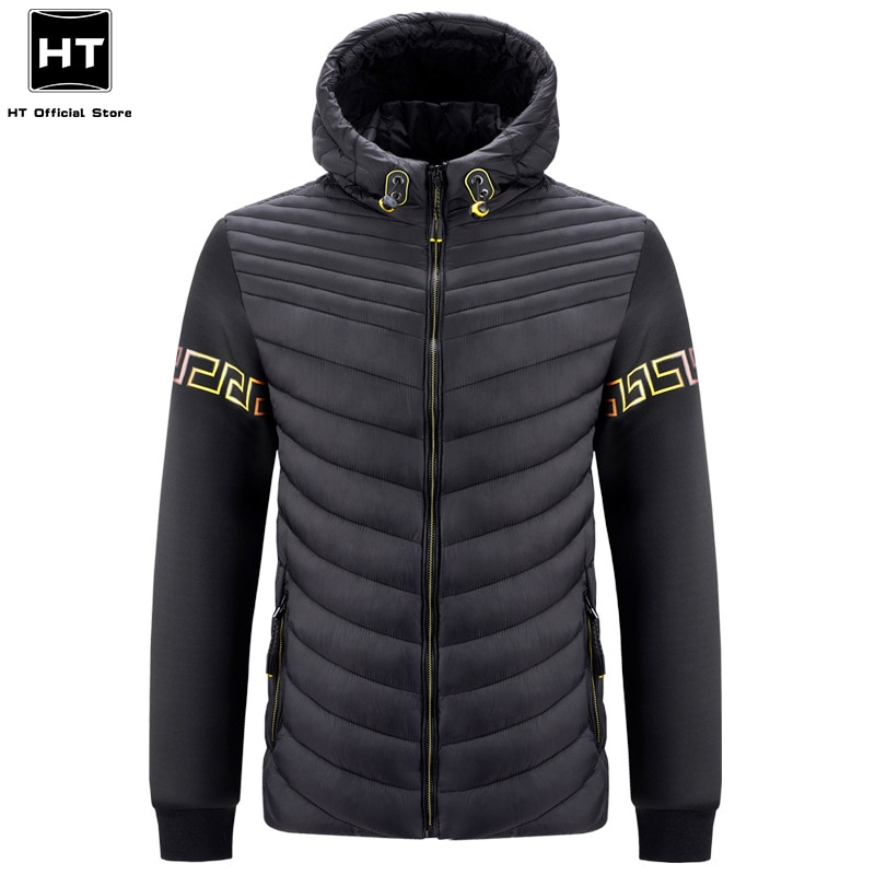 2021 New Winter Padded Hooded Jacket Parka Coat Men Casual Bomber Military Outwear Spring Thick Warm