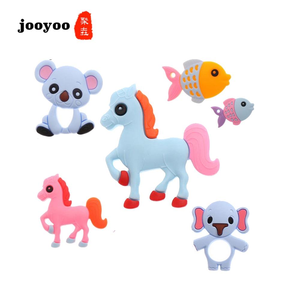 Baby Toys Birth Gift Kids Teethers Toy  Love Children Animal Bear Horse Elephant  Squirrel  Fish Teething Stick jooyoo