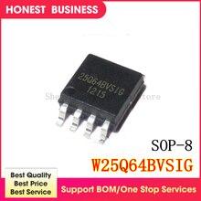 20 PCS/lot 25Q64BVSIG 25Q64BVSSIG W25Q64BVSIG 25Q64 BVSIG W25Q64 SOP-8 En Stock