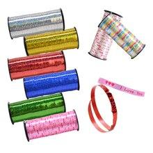 Cinta de listón de plástico de 5mm x 100 yardas, accesorios para globos, cinta de banderín DIY para fiesta de cumpleaños o boda