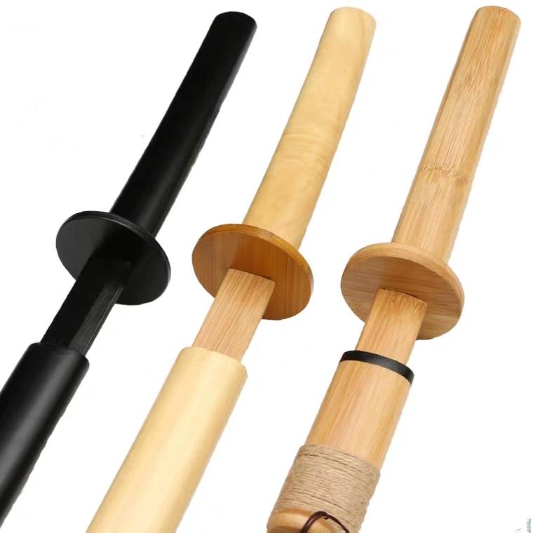 Iaido-سيف خشبي من الخيزران كاتانا ، سيف الساموراي الياباني ، تدريب كيندو ، إكسسوارات الأداء