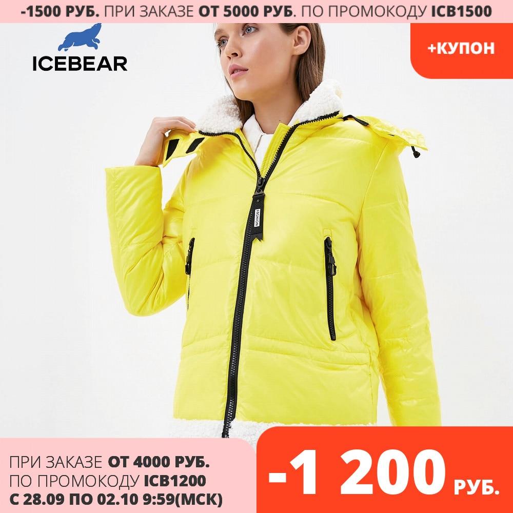 ICEbear 2020 nueva Chaqueta corta de invierno con capucha para mujer invierno acolchado parka abrigo de marca ropa de mujer GWD20122I