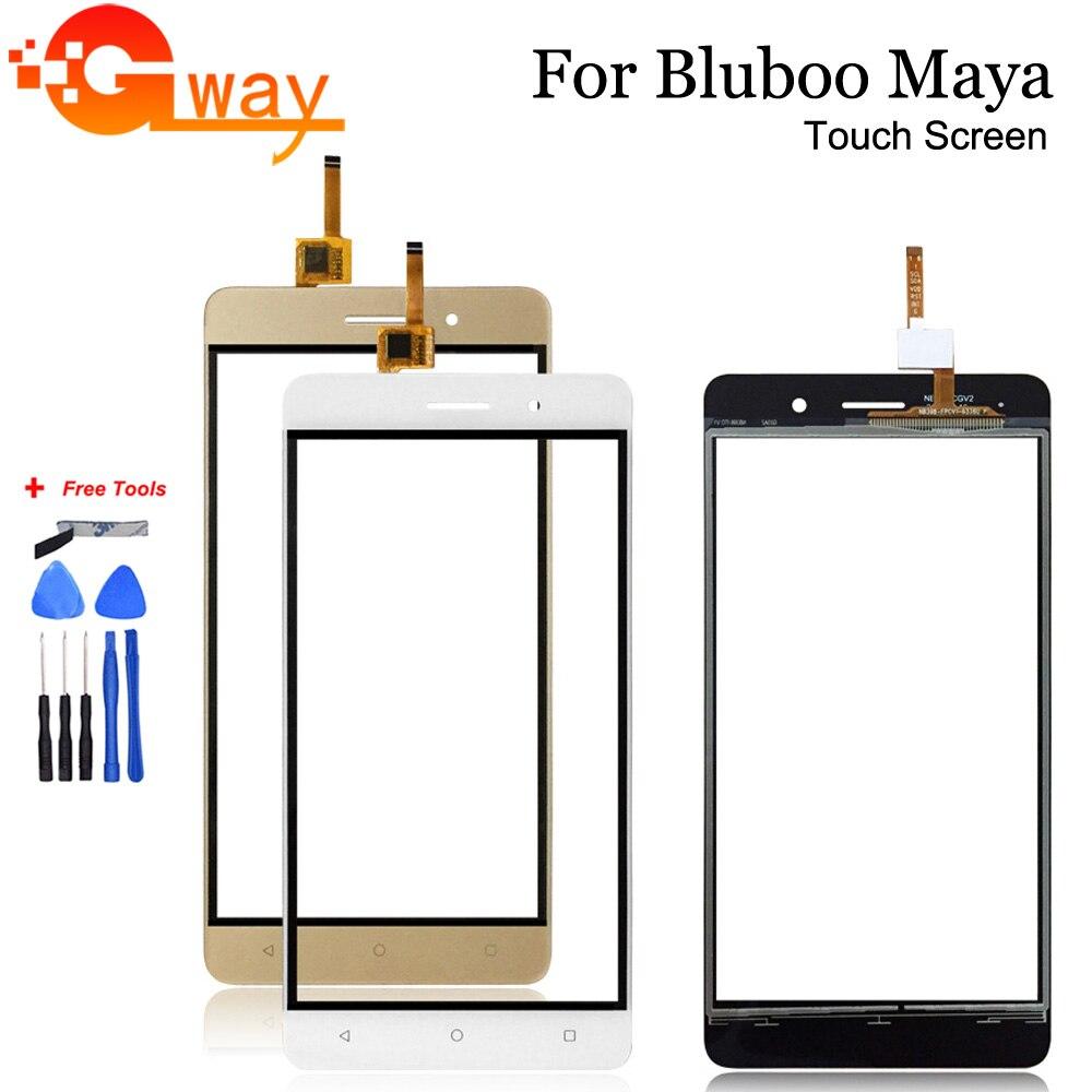 5,5 pulgadas para Bluboo Maya Panel táctil Sensor táctil digitalizador de pantalla para Bluboo Maya táctil sin LCD reemplazo + herramientas