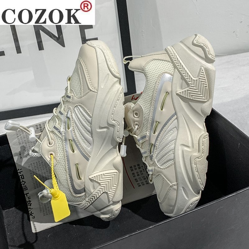 2021 Brand Women Sneakers Platform Chunky Sneakers Female White Casual Shoes Women Designer Trainers Comfort Thick Sole Sneakers