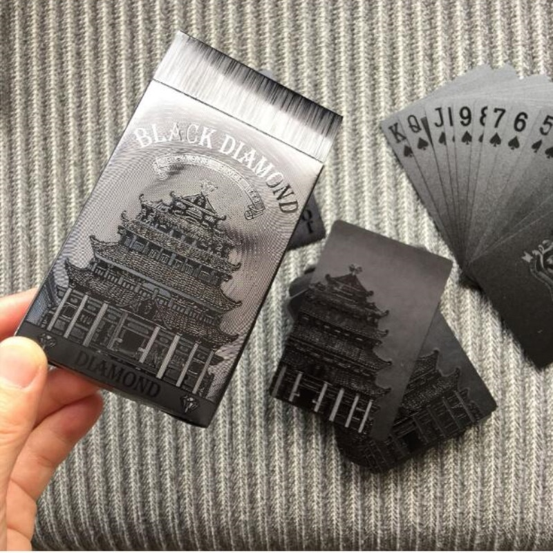 54-шт-Водонепроницаемый-доллар-США-узор-покер-настольная-игра-коллекция-игральных-карт-покерные-карты-Пластик-магические-карты-черный-набо