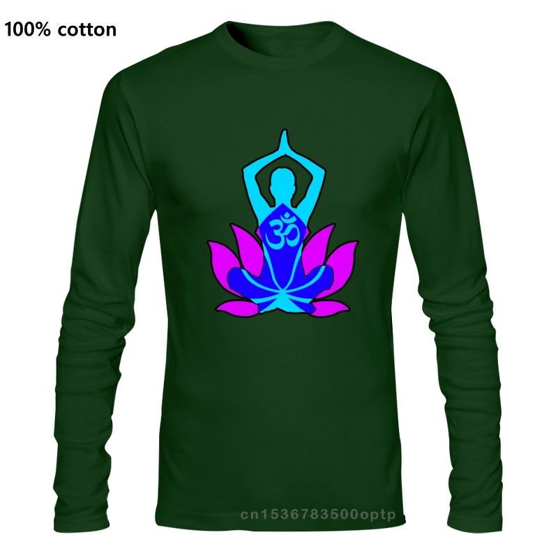 Футболка «Om» для медитации футболка 2018 новый хлопок ткань футболка с длинными рукавами с принтом на заказ топы лотоса футболки с принтом больших размеров; Сезон весна осень|Футболки| | АлиЭкспресс