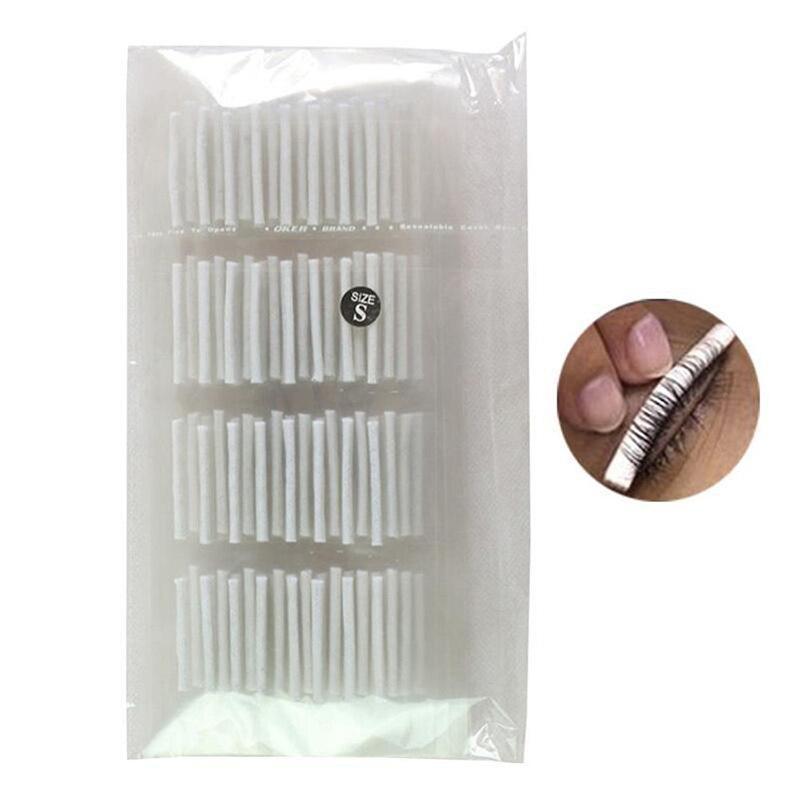 32 pçs sml cílios permanente compõem ferramentas haste cílios curler pólo para extensão de cílios perm branco pólo olho almofadas