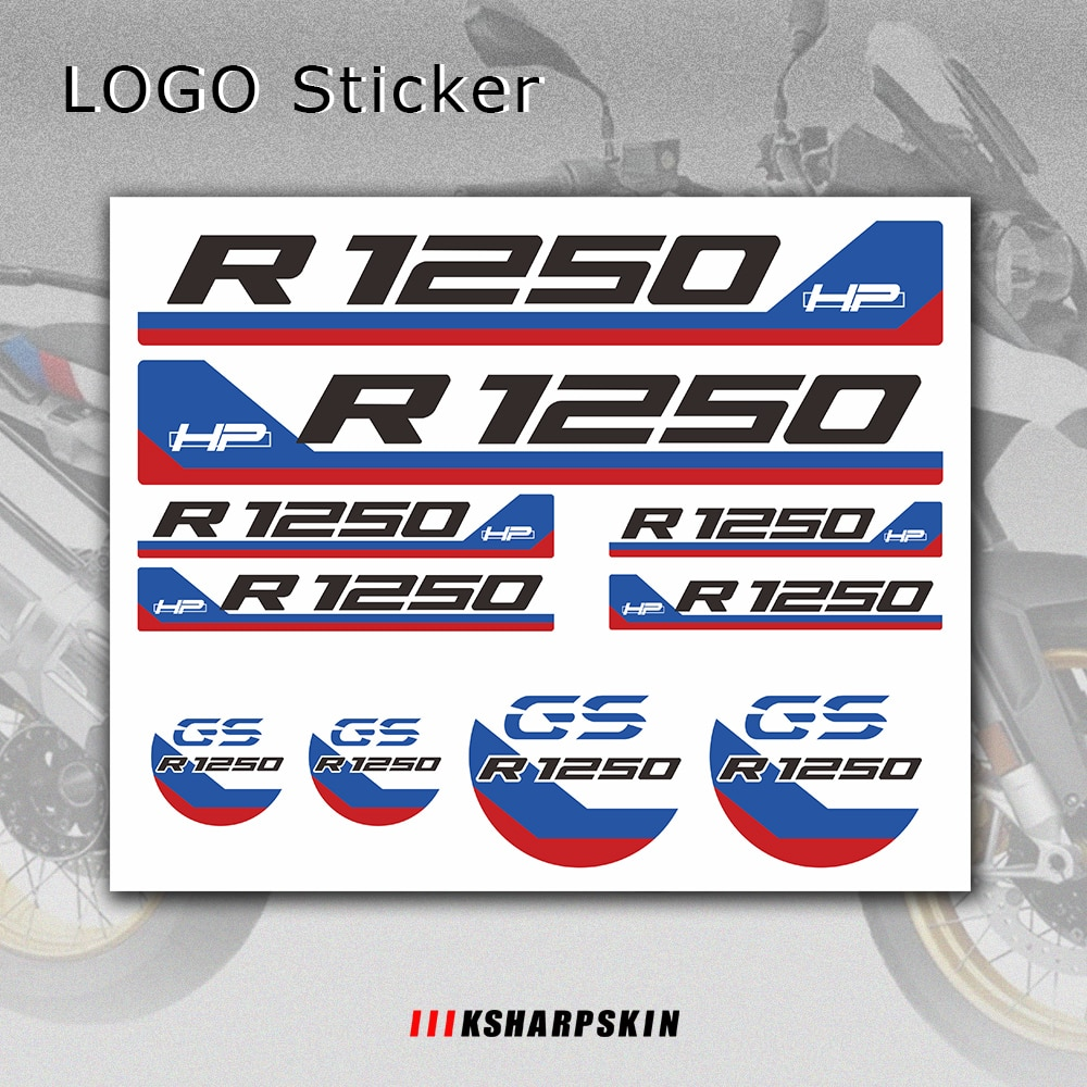 new motorcycle stickers body reflective waterproof body fuel tank logo sticker kit set for bmw hp4 hp 4 sign decal New Motorcycle Sticker Body Reflective Waterproof Body Fuel Tank Tail Box Logo Decals Kit  For BMW R1250HP R1250GS r 1250 gs hp