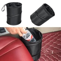 foldable oxford cloth car hanging trash bin portable practical vehicle rubbish can multi functional storage bucket auto device
