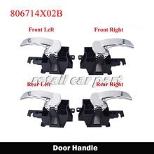 1 set front rear Left Right Car Interior Door Handle For NISSAN NAVARA PATHFINDER 806714X02B 806714X