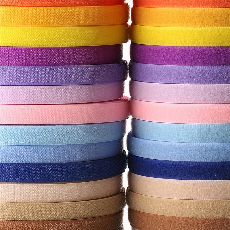 2cm, 1 metro, par, Velcros de colores, pegatina, gancho, cierre de bucle, cinta adhesiva, botón de nailon, ataduras, costura, bolsas de ropa, accesorio