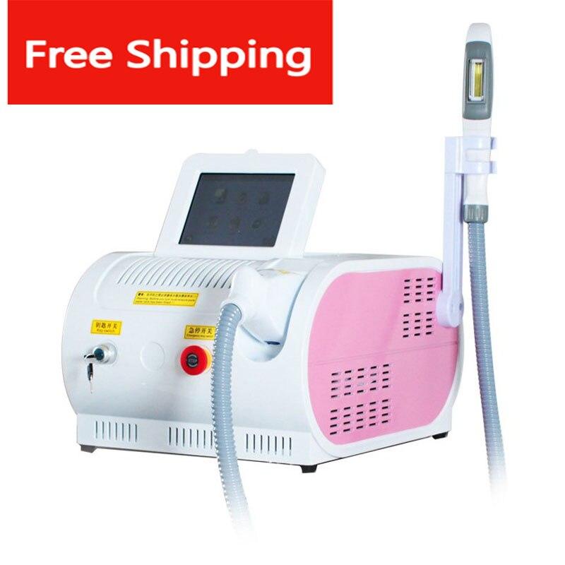 المحمولة OPT SHR IPL جهاز إزالة الشعر بالليزر العناية بالبشرة آلة تجميل لتجديد الشباب