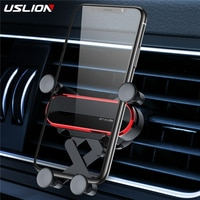 USLION Universal Gravity Car Phone Holder Car Air Vent Mount For iPhone 8 X XS Max Samsung Xiaomi Mobile Phone Holder Stand Auto