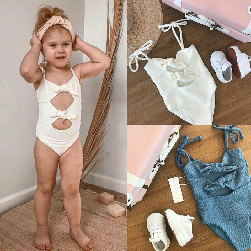 Neugeborenen Baby Mädchen Kind Badeanzug Bademode Bikini Bademode Sets Sommer Tankini Bandage Hohl Urlaub Baby Kleidung