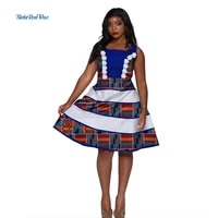 summer lace print dresses for women custom clothing bazin riche african wax cotton pearls beads dresses for women party wy2905