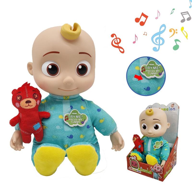 Cocomelon ألعاب من القطيفة الموسيقية النوم JJ دمى للفتيات لينة أنيمي أفخم الجسم وسادة صغيرة بلوشيز تيدي ألعاب الدببة للأطفال