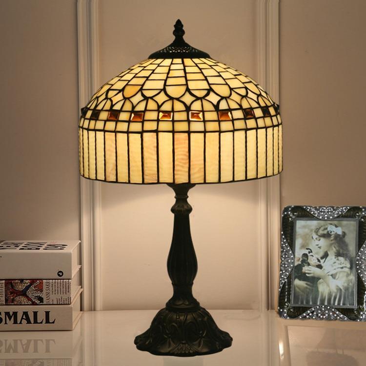 Lámpara de mesa de estilo europeo de 12 pulgadas, decoración Vintage Para...