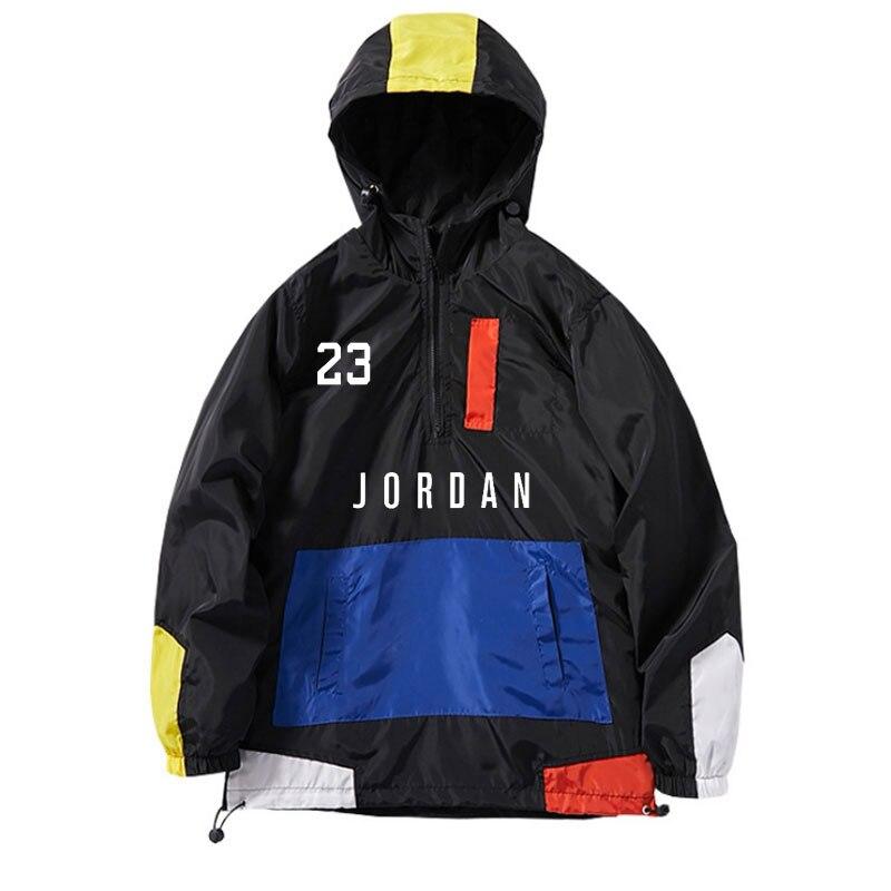 Ветровка мужская с капюшоном, уличная куртка на молнии, ветровка большого размера, брендовая одежда, осень 2021