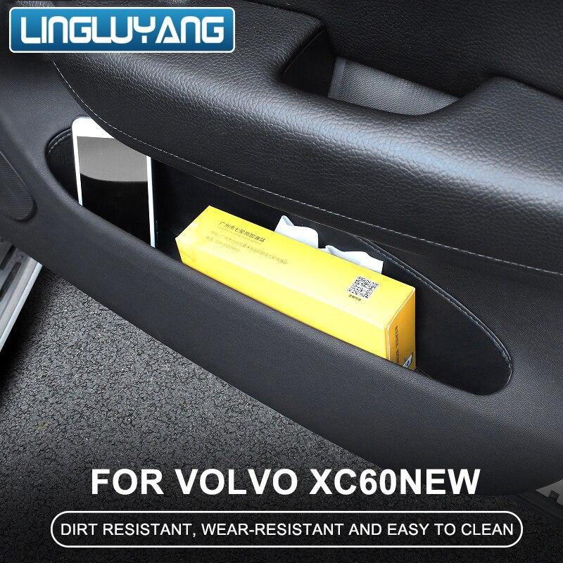 Para volvo xc60 2018 2019 2020 porta proteção almofada slot de armazenamento especial couro do plutônio porta slot caixa armazenamento almofada