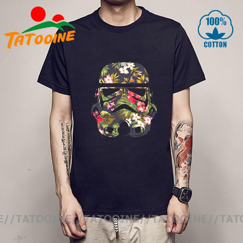Tatooine Männer T Shirts 2020 Floral Design Humor Tropical Stormtrooper T Hemd männer JEDI Kostüm Kreative Drucken günstige Kleidung china