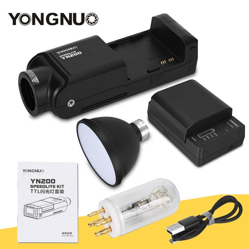 الوقت محدود بيع YONGNUO YN200 TTL HSS 2.4G 200W بطارية ليثيوم متوافق YN560-TX (II)/YN560-TX برو/YN862 لكانون نيكون