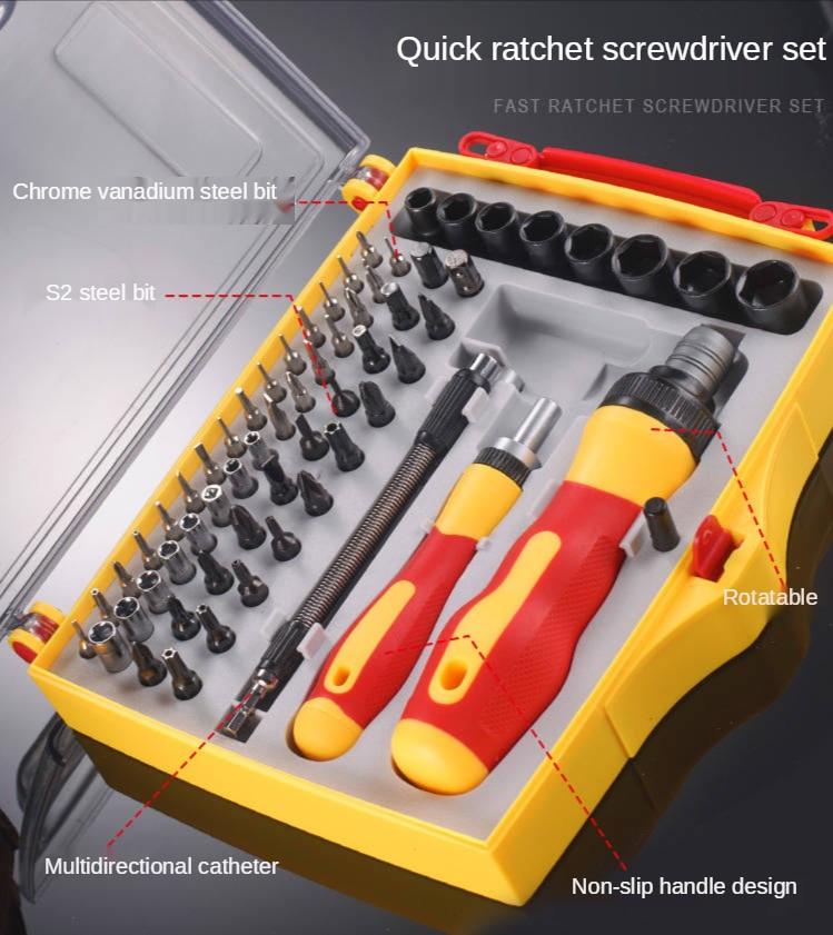 Precision screwdriver set 62 in 1 mini magnetic screwdriver set, mobile phone iPad camera industrial home repair tools enlarge