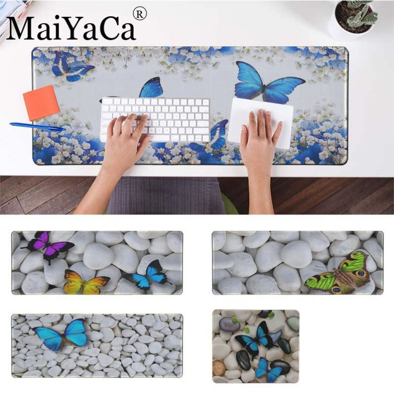 Maiyaca borboleta verde arte de pedra borracha mouse durável desktop mousepad conforto tapete do mouse gaming mousepad para cs go lol dota2