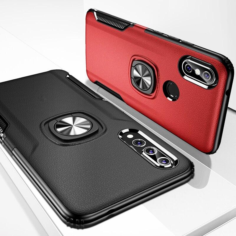 Shockproof Armor Case For Huawei Nova 3 3i i Metal Ring Holder Stand Bracket Back Cover Case Huawei Nova 3 Cases Nova3i Nova3 On