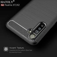 realme xt case for oppo realme xt shockproof bumper silicone soft cover carbon fiber tpu texture phone case for oppo realme xt