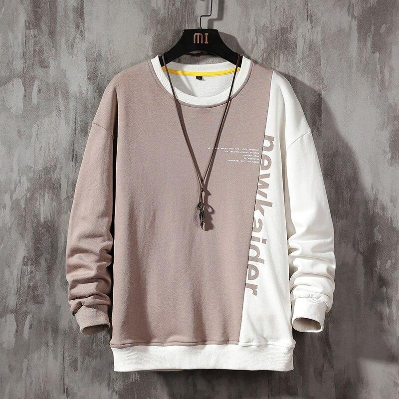 Модные брендовые толстовки 2021; Сезон весна-осень; В стиле «хип-хоп» повседневные свободные мужские кофты в стиле панк уличная одежда
