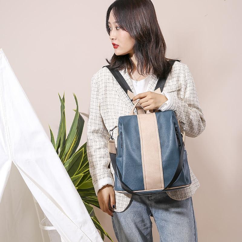 Multi-purpose Backpack Female Korean Simple Shoulder Messenger Bag Multi-purpose Backpack Purses and Handbags Luxury Designer
