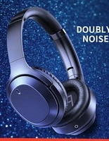 folding design bluetooth 5 0 earphones active noise reduction wireless headphones bluetooth wireless stereo with microphone