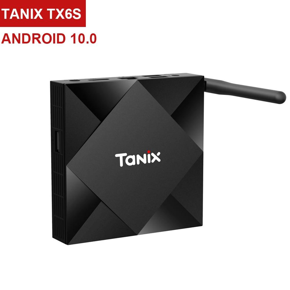 Android 10.0 caixa de tv 4 gb ram 64 gb rom allwinner h616 tanix tx6s media player 6 k wifi tx6 media player youtube conjunto caixa superior