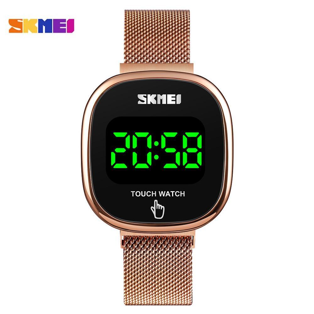 SKMEI Fashion Creative Watch LED Touch Screen Wristwatch Women's Watches Simple Ladies Electronic  Female Clock Relogio Feminino